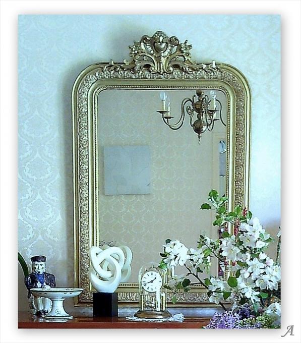 Miroir normand fin XIXe siècle - Saint Germain des Prés