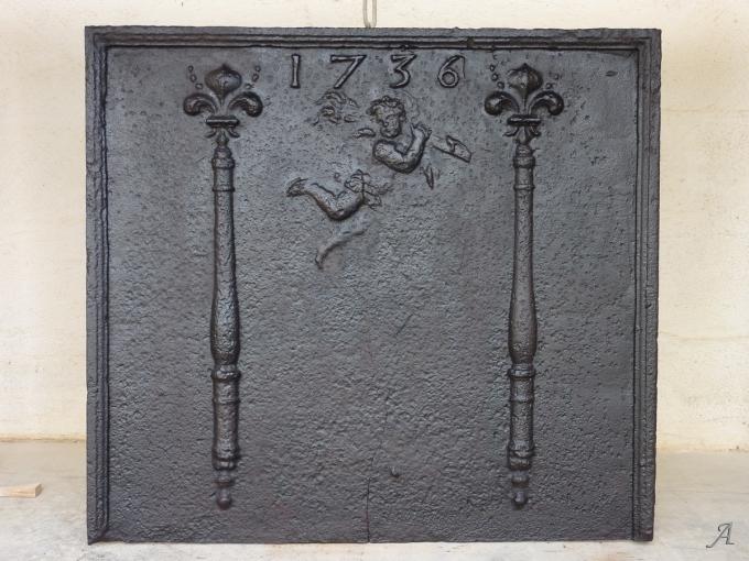 Plaque de cheminée du XVIIIe siècle - Les Chères