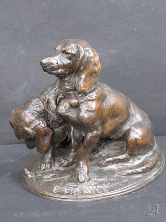 Sculpture d'Emmanuel Fremiet - Ravageot et Ravageode - Paris