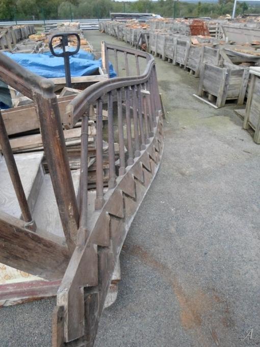 Escalier en chêne - La Brûlatte