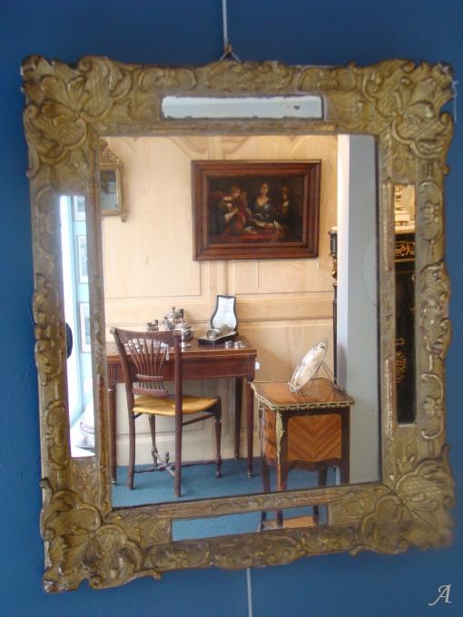 Miroir en bois doré du XVIIIe siècle - La Talaudiere