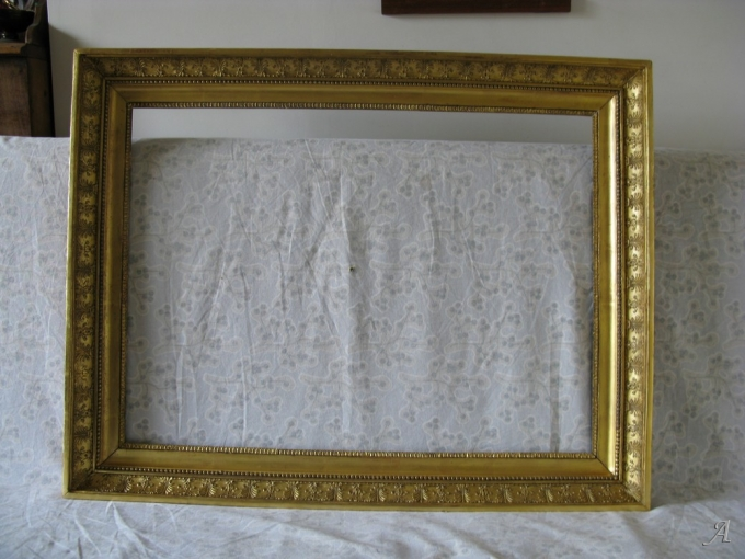 Cadre en bois doré du XIXe siècle - 1