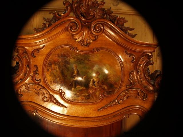 Vitrine en vernis Martin, de style Rocaille de la fin du XIXe siècle - Notre Dame du Touchet