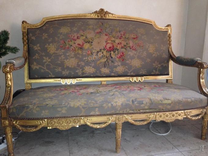Salon en bois doré et tapisserie d'Aubusson - Saint Rémy lès Chevreuse