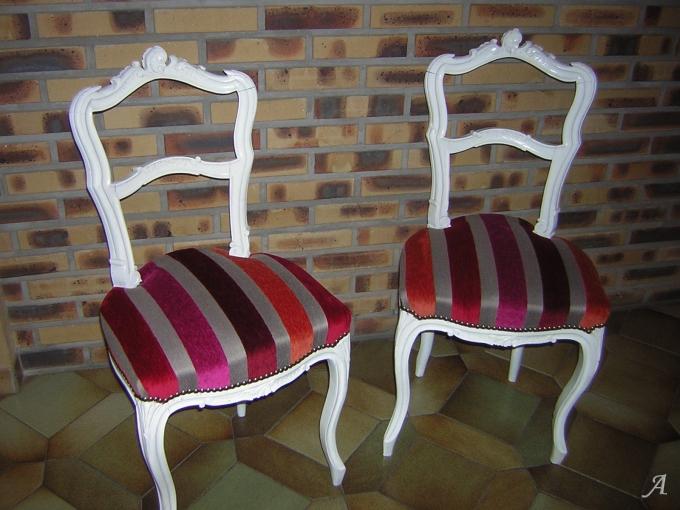 Paire de chaises Louis XV - Mantes la Ville