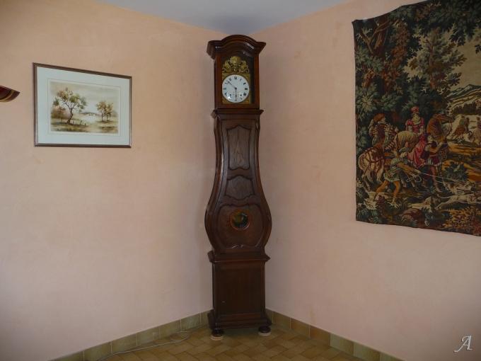 Horloge Comtoise avec mécanisme du XVIIIe siècle - Cognin
