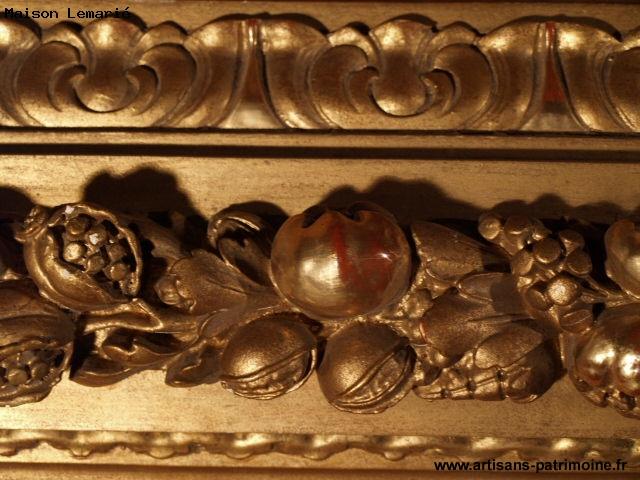 Grand cadre doré d'époque Napoléon III - Notre Dame du Touchet