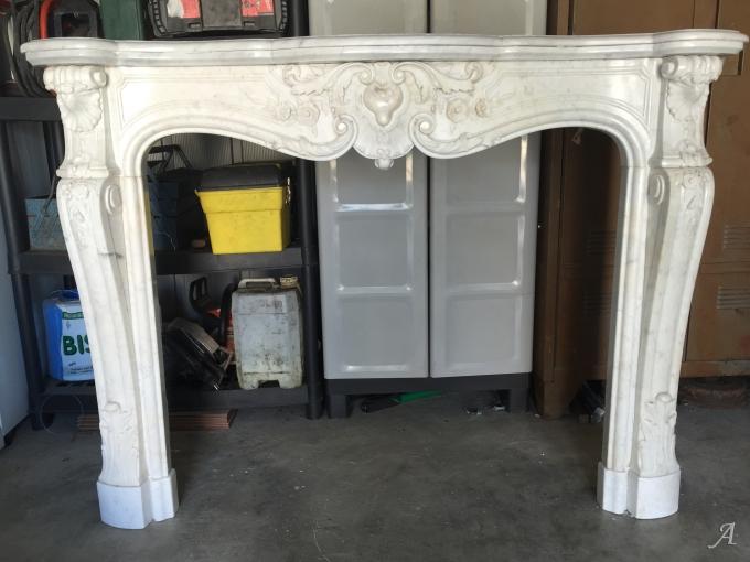 Cheminée de style Louis XV en marbre - Coincy
