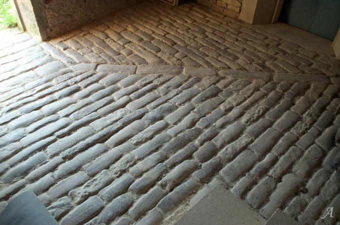 Pavés d'écurie du XIXe siècle - Darcey