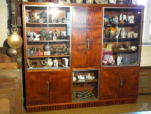 Meuble vitrine-bibliotheque Art Déco - Argenton sur Creuse