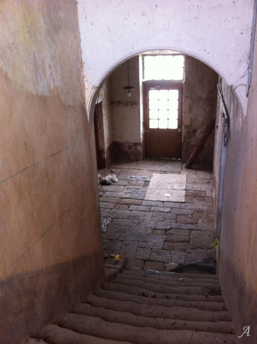 Escalier en pierre - Rainville