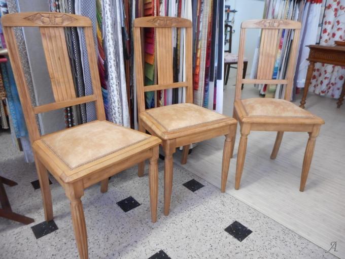 Trois chaises de style Art Déco - Lézignan Corbières