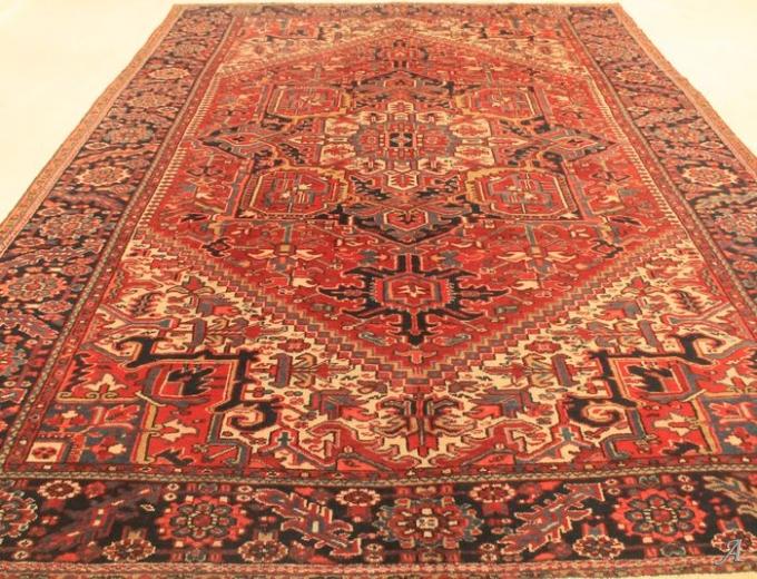 Grand tapis persan Hériz début XXe siècle - Paris