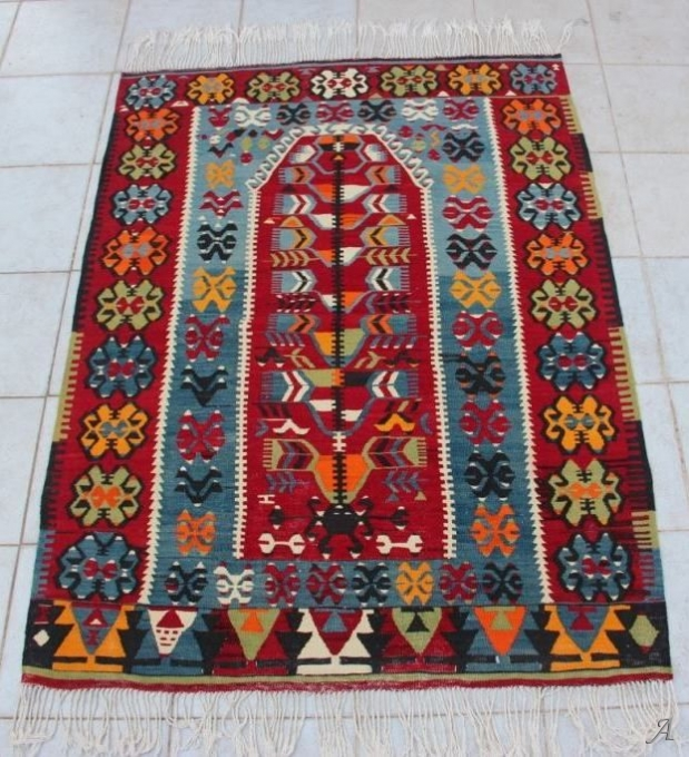 Tapis Kilim turc ancien Denizli - Paris