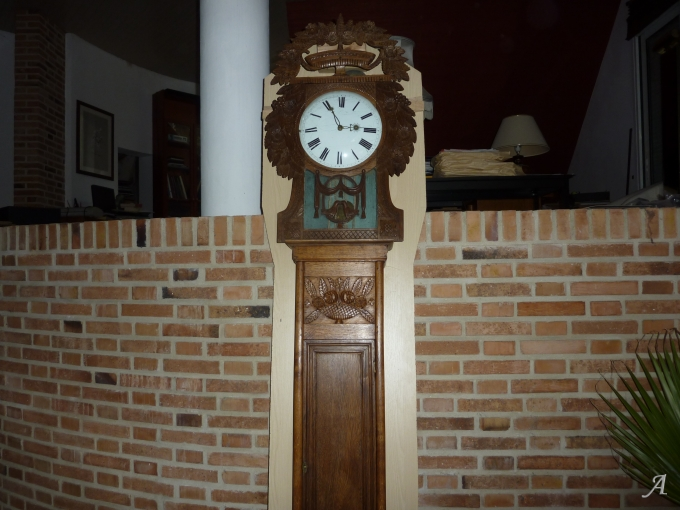Horloge normande de parquet Saint Nicolas - Aumale