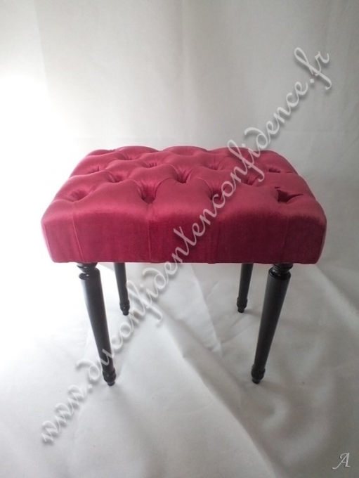 Pouf capiton rose - Gentilly