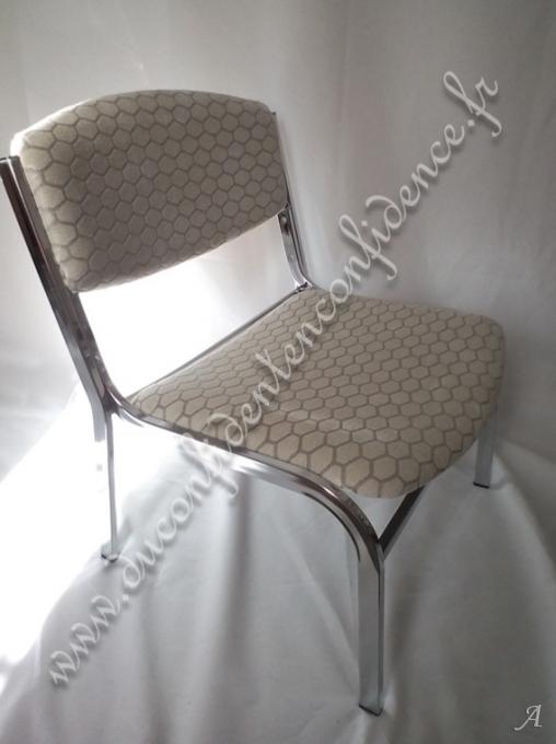 Paire de fauteuils type chauffeuses 1970 - Gentilly