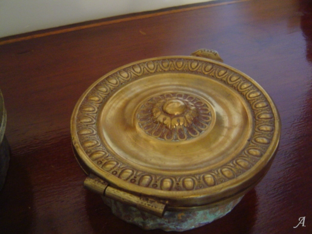 Bouche d'aération en laiton du XIXe siècle - Plouer sur Rance