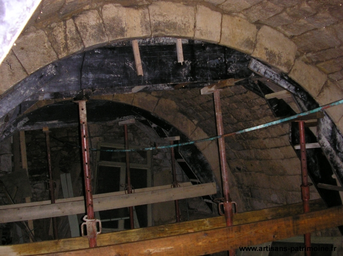 Arche de voute en pierre - Poitiers
