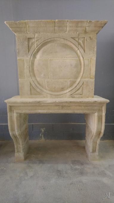 Cheminée ancienne en pierre charentaise - Igné, Cizay la Madeleine