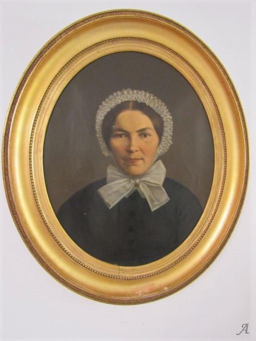 Portrait sur toile du XVIIIe ou XIXe siècle - Villeurbanne