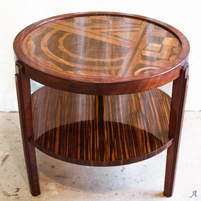 Table guéridon Art Déco estampillée Louis Majorelle - 1