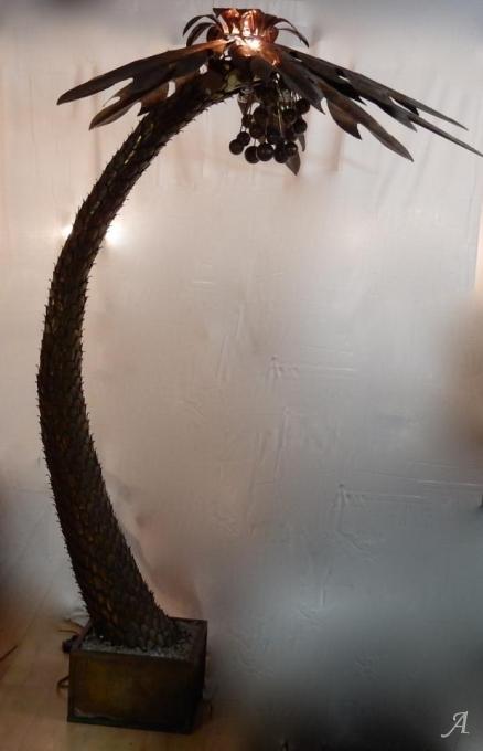 Lampadaire palmier Maison Jansen Paris de 1970 -  Clamart