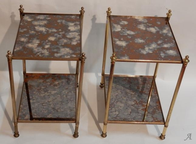 Paire de bouts de canapé en bronze de style Maison Baguès -  Clamart