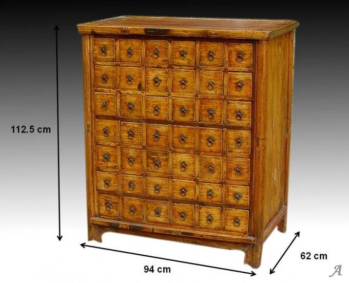 Meuble de métier ancien à 42 tiroirs - Puy l'Eveque