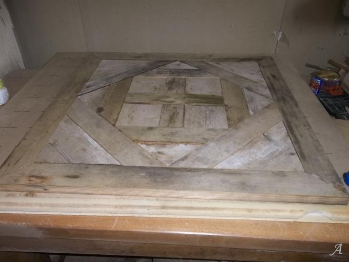 Panneau de parquet en vieux bois d'épicéa - Saint Sixte