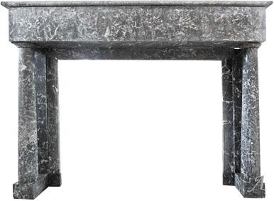 Ancienne cheminée Directoire en marbre noir - L'Isle sur la Sorgue