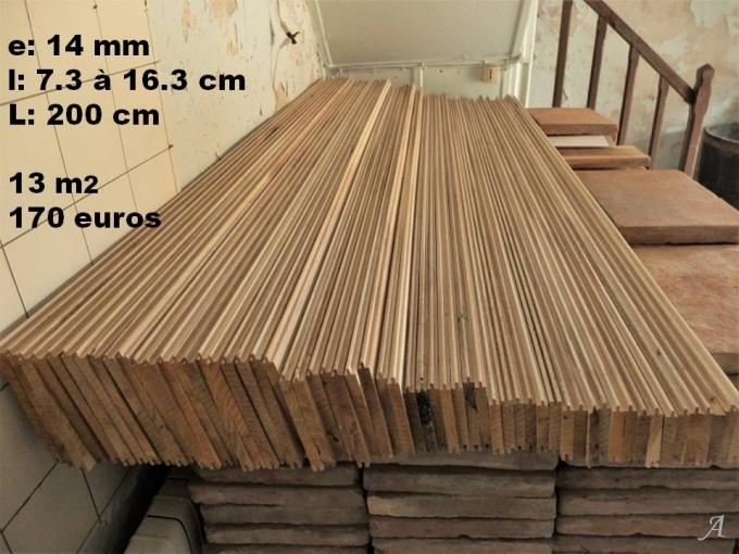 Voliges en chêne pour plafond à l'ancienne - Puy l'Eveque