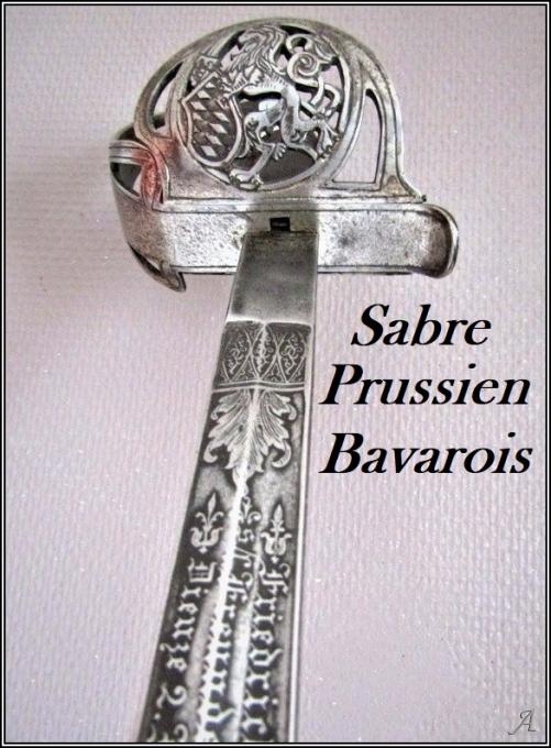 Sabre prussien bavarois à lame gravée - Villeurbanne