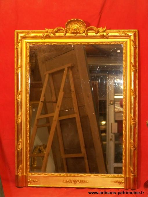 Miroir doré Romantique du XIXe siècle - Conliège