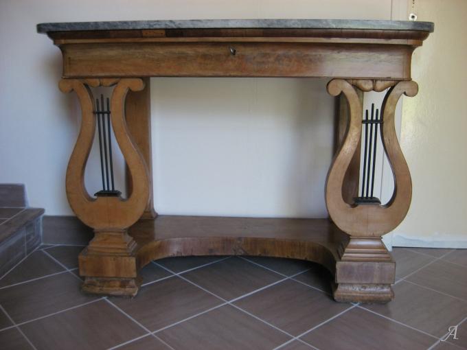Ancienne console d'époque restauration - Elincourt