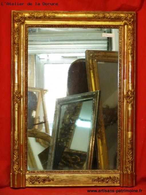 Miroir doré Restauration du XIXe siècle - Conliège