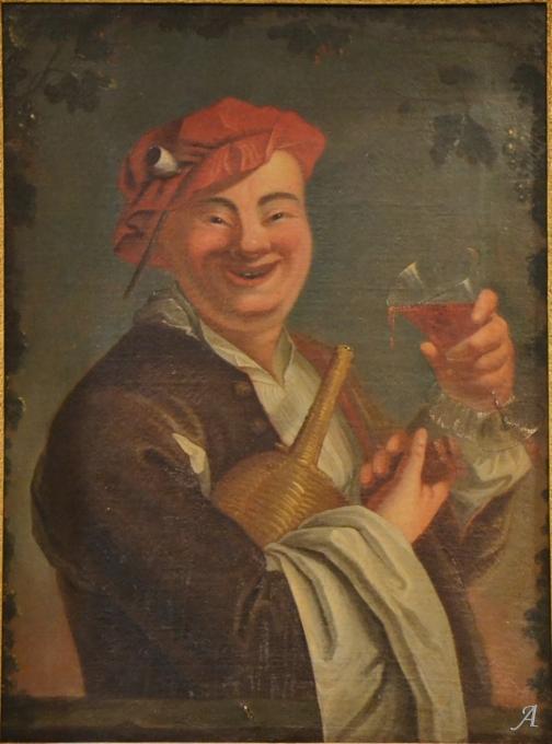 Le gai buveur école française du XVIIIe siècle - Notre Dame du Touchet