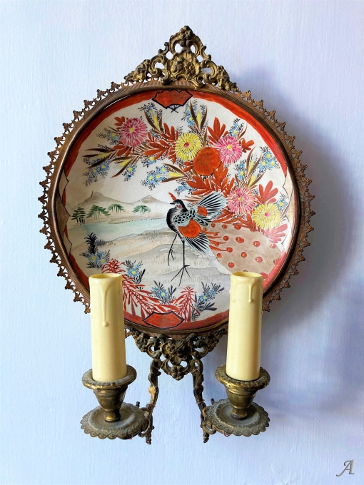 Paire d'appliques en porcelaine du Japon XIXe siècle - Châteaubriant