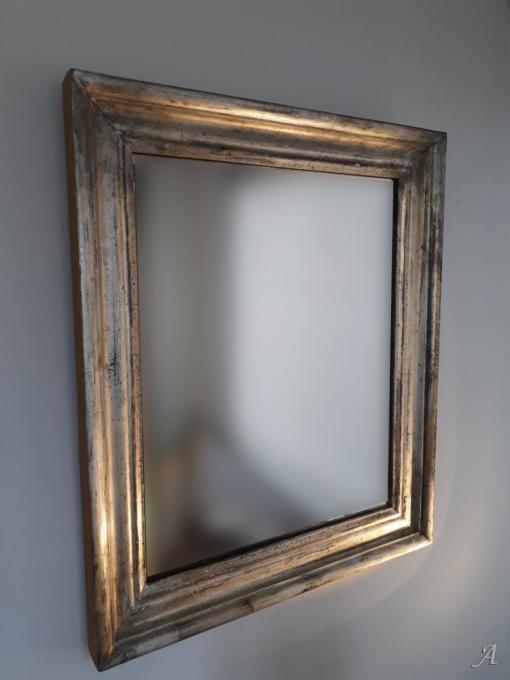 Miroir ancien à l'argent - Soissons