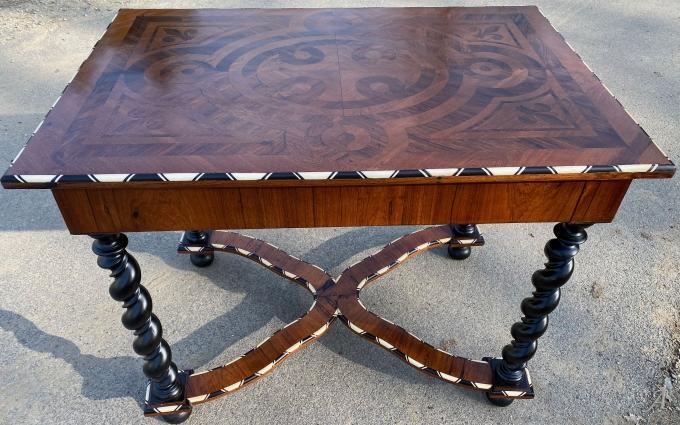 Table de style Louis XIII d'époque XIXe siècle - Berric