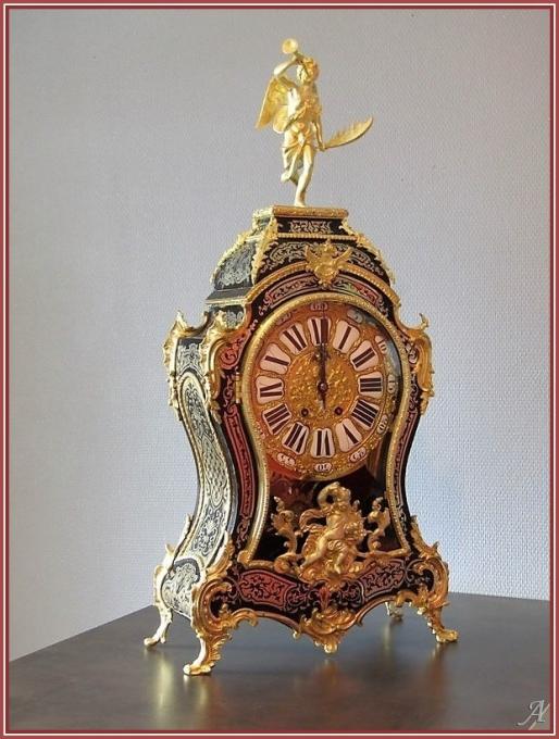 Cartel de style Régence en marqueterie Boule, Napoléon III - Peronnas