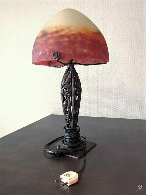 Lampe champignon Art Deco Muller frères Lunéville - 1