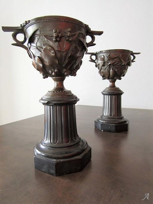 Cassolette Napoléon III en bronze  pour pendule - Villeurbanne
