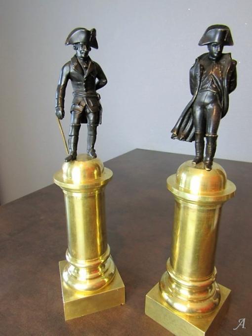 Napoléon et Frederic II roi de Prusse en bronze - Peronnas