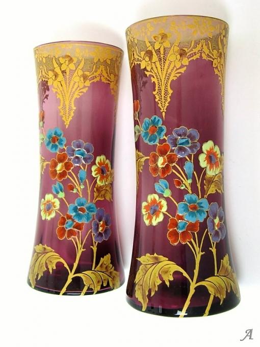 Paire de vases Legras Art Nouveau - 1