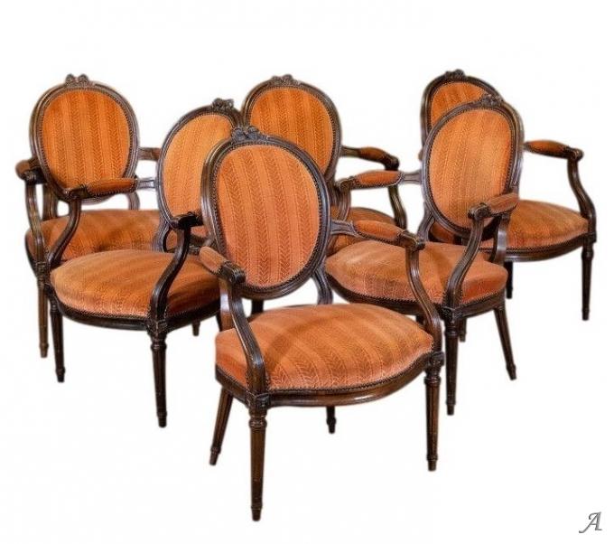 Suite de six fauteuils Louis XVI du XVIIIe siècle - Rougé
