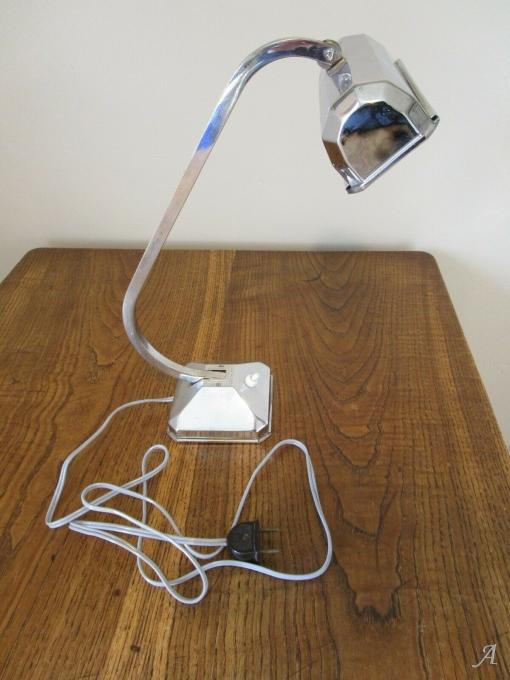 Lampe de table chromée Art Déco - Guillac