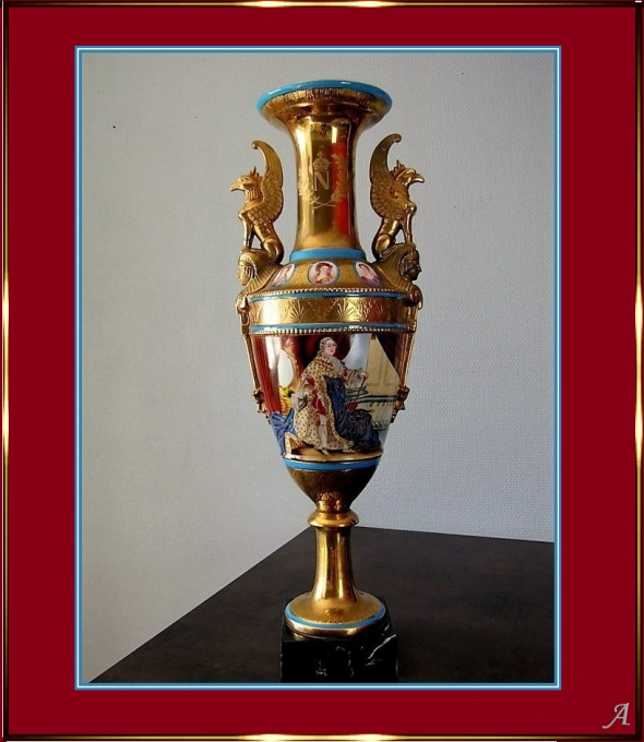 Grand vase en porcelaine de Paris - Peronnas