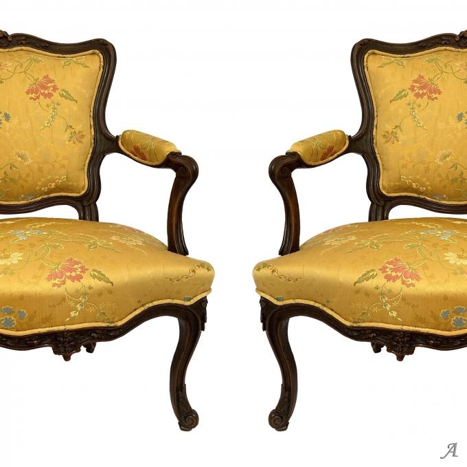 Paire de fauteuils époque Louis XV - Rougé