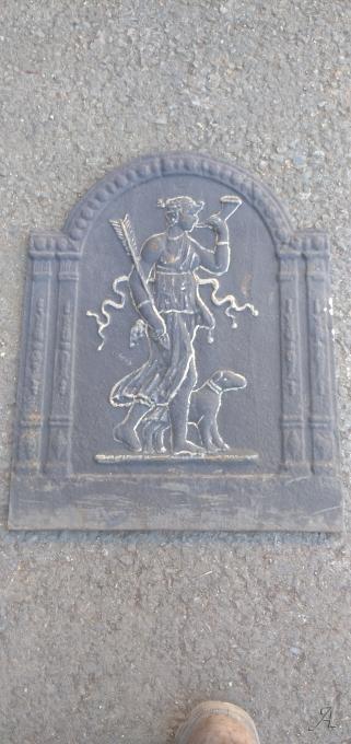Plaque de cheminée en fonte - Saint Juéry